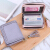 カールドケ·スミディ·ス式韩版大容量コンパクト大容量カードチャッファ·ファ·ナ·短い财布カバーの证明书カードは薄い·カスタムブルー灰色K 058