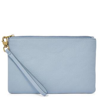 Fossil化石レディサイズのお金が入る収納バッグを持って、バッグを持って、短いお金を持って、ファッショの皮質素麺カジュアル日常SLG 1214 P Horizon Blue one size