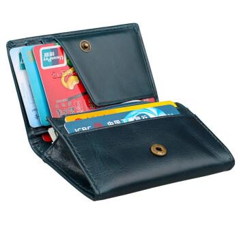 【スキューグー防止カードケス】デンマークVanlemn Skiming防止本革小銭入れカードキー銭夹RFID遮蔽NFC信号防磁大容量カードグリップフラッシュ付青