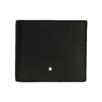 MONTBLANC万宝龍/男性大隊軟皮の紋様シリーズの財布ケース114461黒