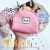 韩国のアニメたてのキャンバス銭入レディさん、ブリティッシュの学生のキーホーダwg{方形}灰色のハスキー