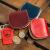 遊びなさい生活の美学!精緻な趣味を徹底的に行い、本革の縫い目であるシンプロ銭を収納ボックスに入れた赤い日本栃木皮