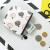 学生シンプの個性的な硬貨にお金を包んで入れられた短い財布ミニの可愛い小財布レディ