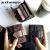 BENBB AOYOUPINの新作短财布カードドケケ-ス短财布学生の韩版の二つ折りの小新鲜な折りたたみが可爱いファンシー多机能潮カ-ドケスブラック