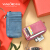 VanlordVANLORDカードケ-ドレイディ-スのコンパクト本革精緻で高級な韓国の可愛い硬貨の財布の運転免許証一体の閨蜜紅紫