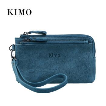 KIMOの新作女性财布布迪ース短财布ファ·シンプ欧米本革銭夹本革小钱入れ硬货包青