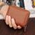 Dure銭入レディティース式本革カードドケス女性大容量カードパッケージ多機能カーズズズ汎用ブラウン(オルガンタイプ)